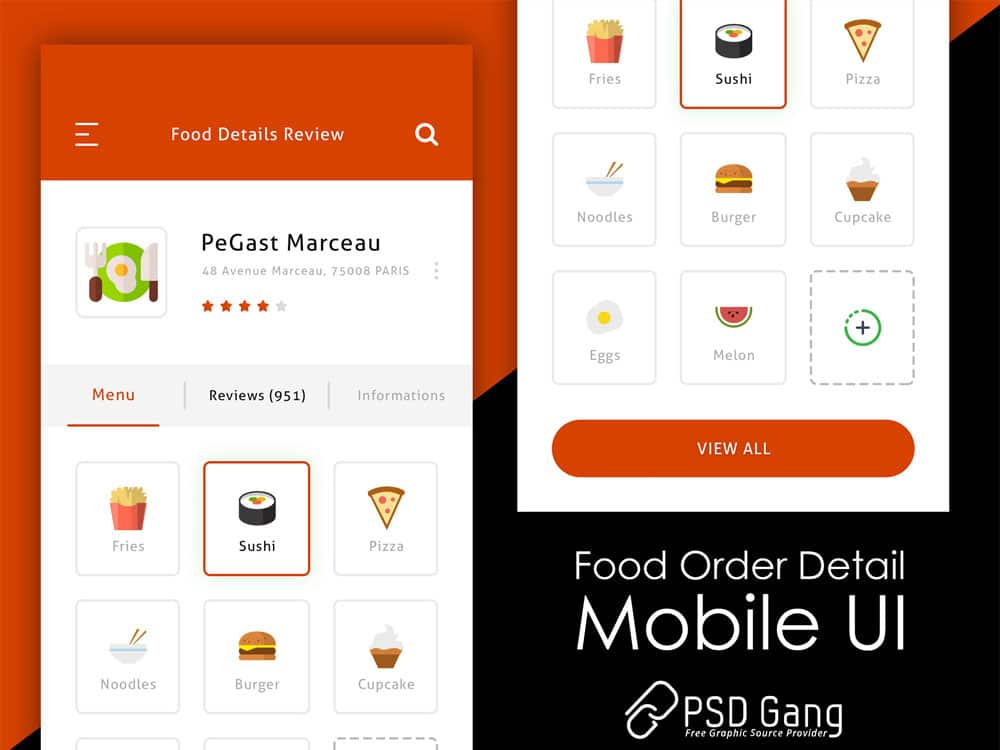 Food Order Detail Page UI for App
