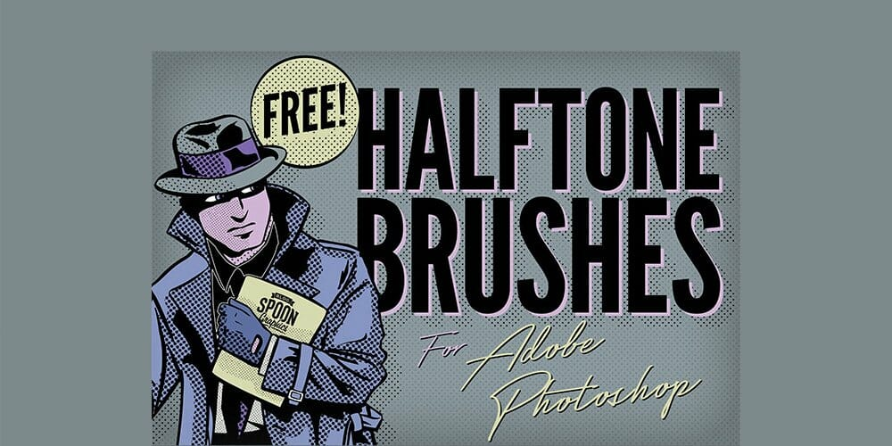 Free Halftone Texture Brushes for Photoshop