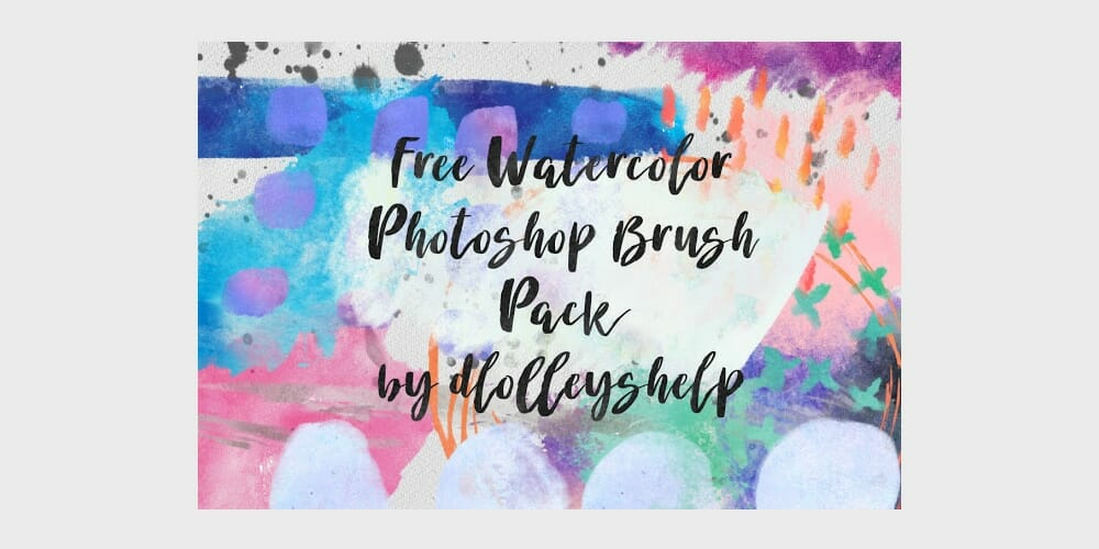 Free Watercolor Photoshop Brush