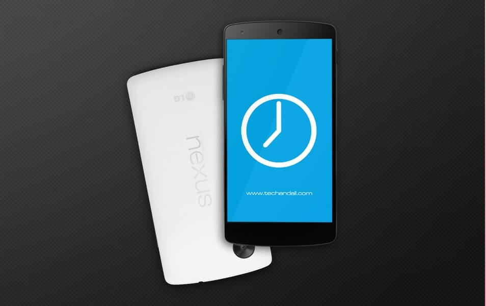 Google Nexus 5 Screen Mock up