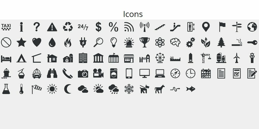 Isometric Markers Icons
