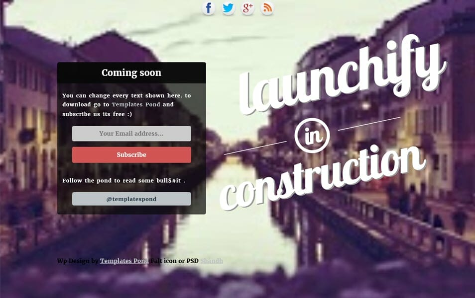Launchify Responsive Coming Soon Blogger template