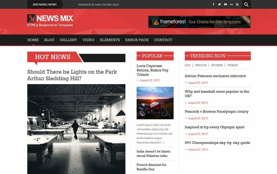 News Mix Magazine WordPress theme