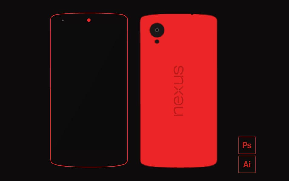 Nexus 5 flat mock-up
