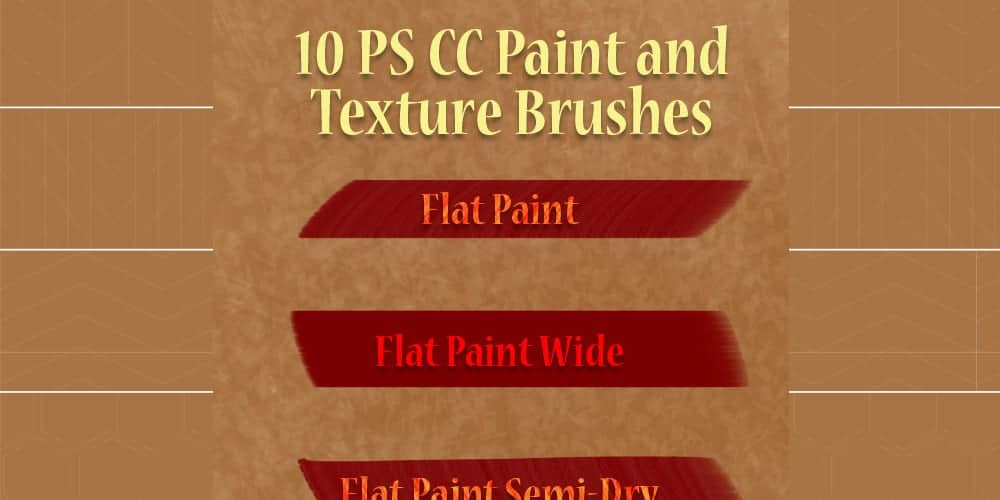 Paint and Texture Adobe Photoshop Brushes