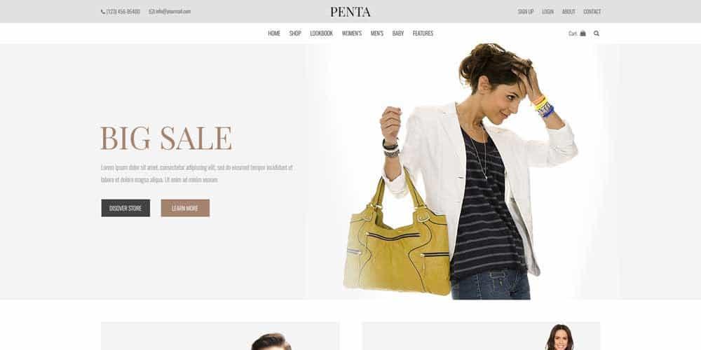 Free ecommerce web templates psd css author penta minimal ecommerce template psd maxwellsz