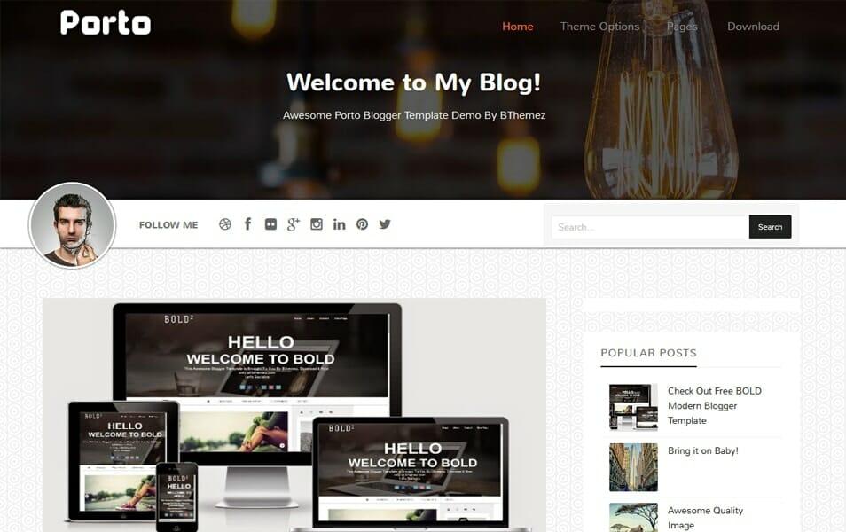 200+ Best Free Responsive Blogger Templates