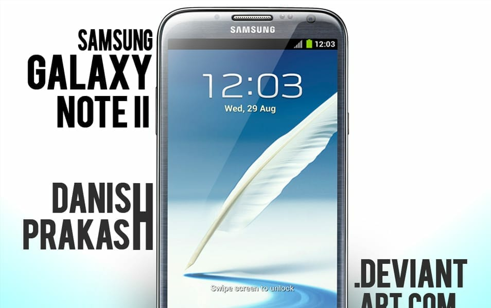 Samsung Galaxy Note II Blue [psd]