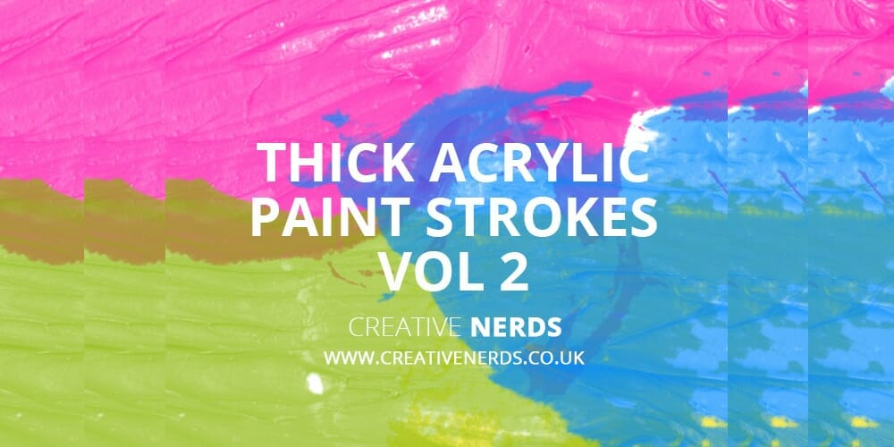 Thick Acrylic Paint Stroke Brushes
