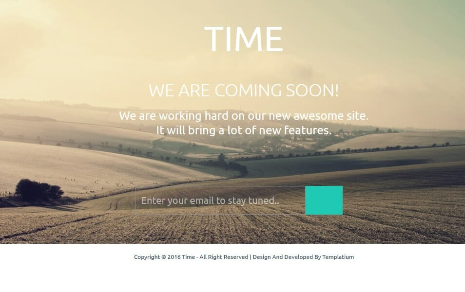 Time Coming Soon Responsive Blogger Template