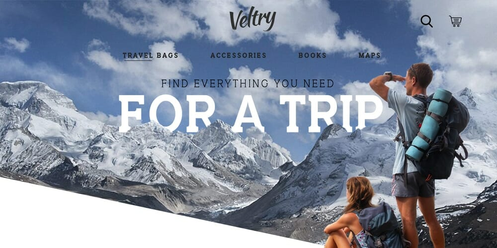 Travel Accessories Web Template PSD
