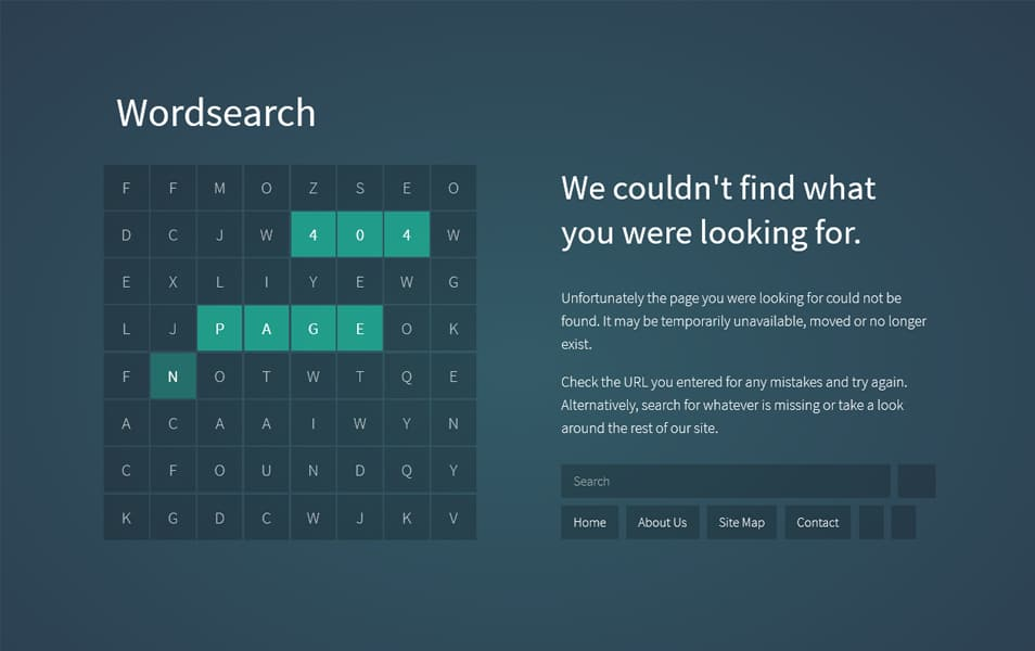 Wordsearch Pro Error Page Blogger Template