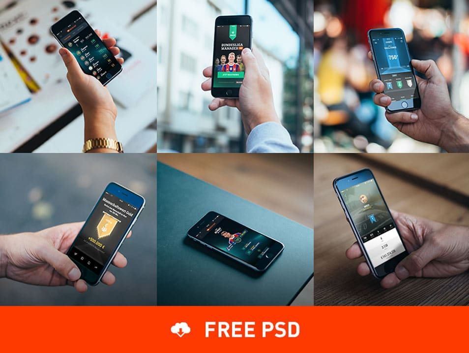 6 Photorealistic iPhone 6 mockups