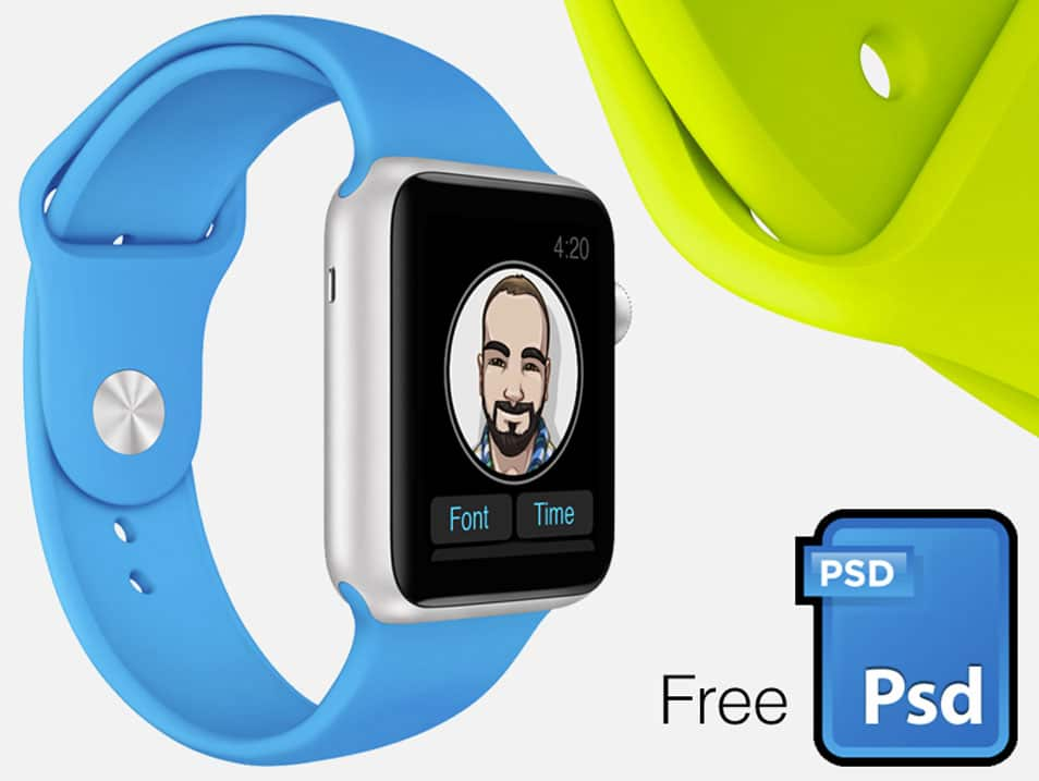 Apple Watch screenshot mock kit PSD