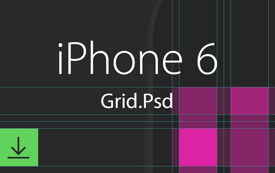 Apple iPhone 6 Grid Template