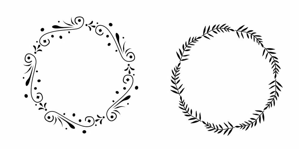 Free  Floral Wreath Vector Set