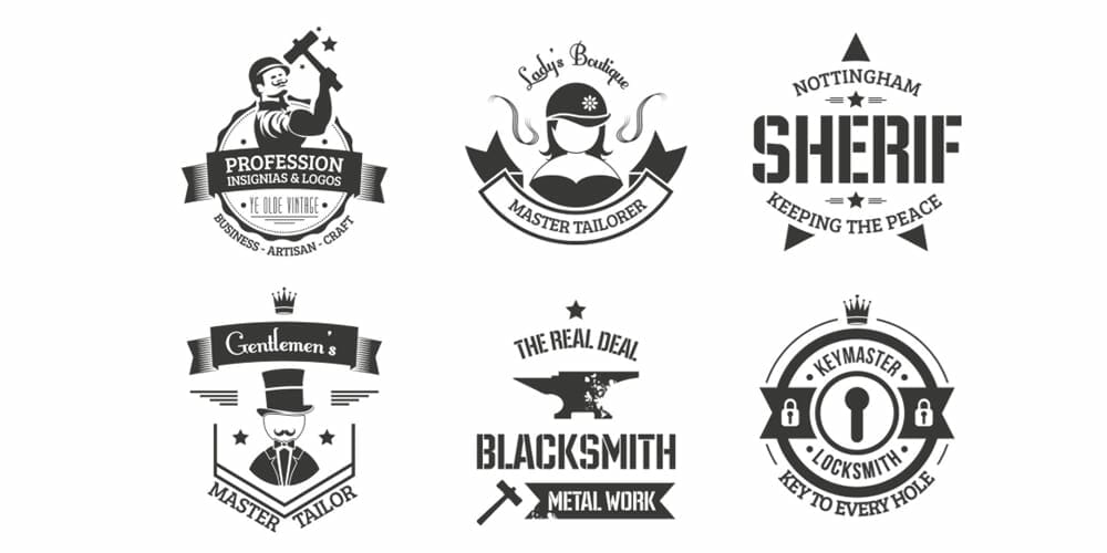 Free Vintage Logo Templates and Badges