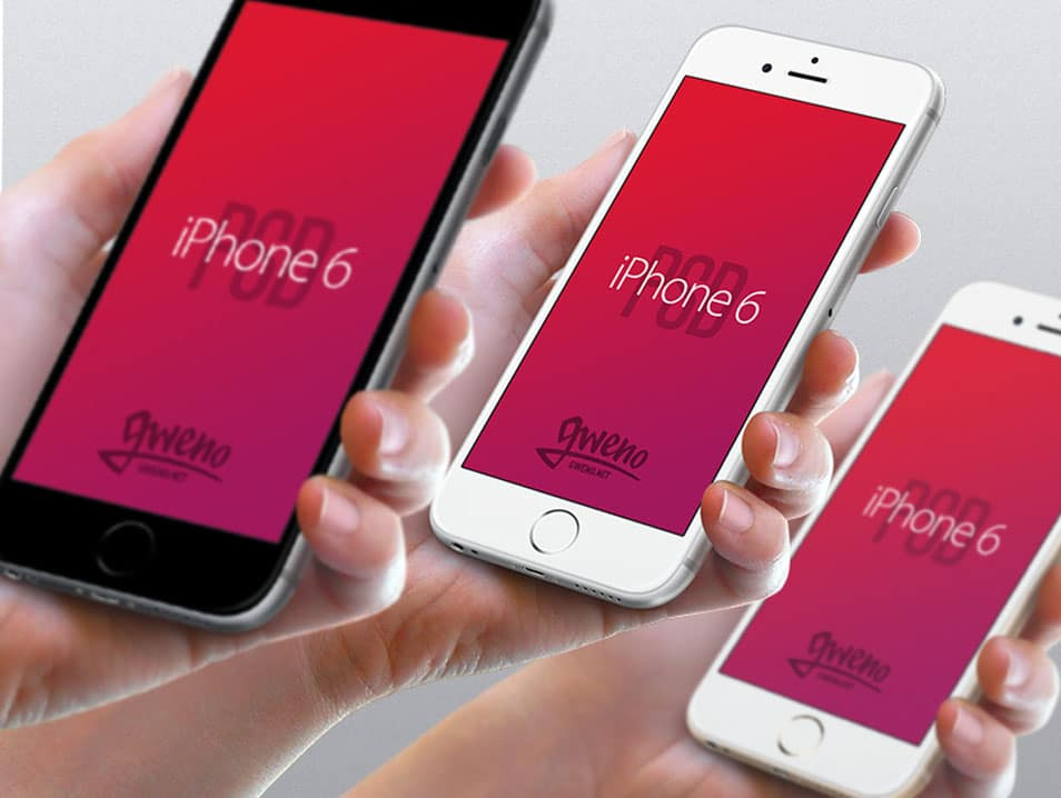 Iphone 6 Mockup - Hand PSD