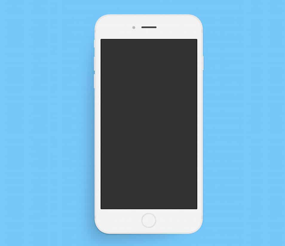 Minimal Apple iPhone 6 Plus PSD