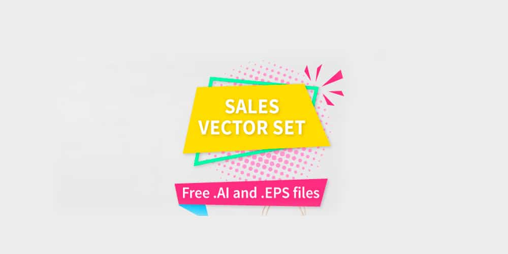 Sales Vector Set For Designers