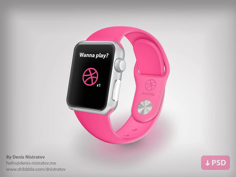 Vector Apple Watch Dribbble Edition