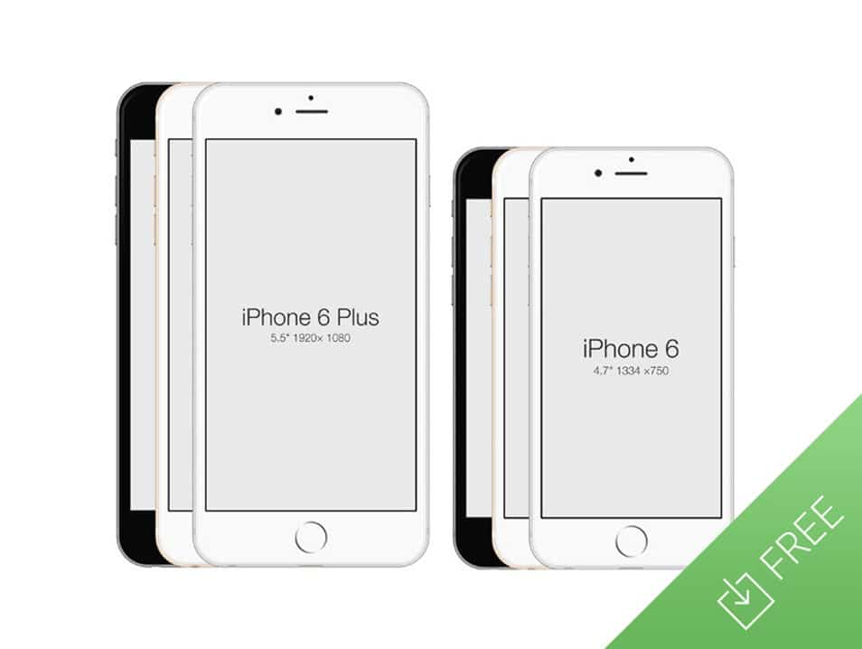 iPhone 6 - Free PSD Mockup Template