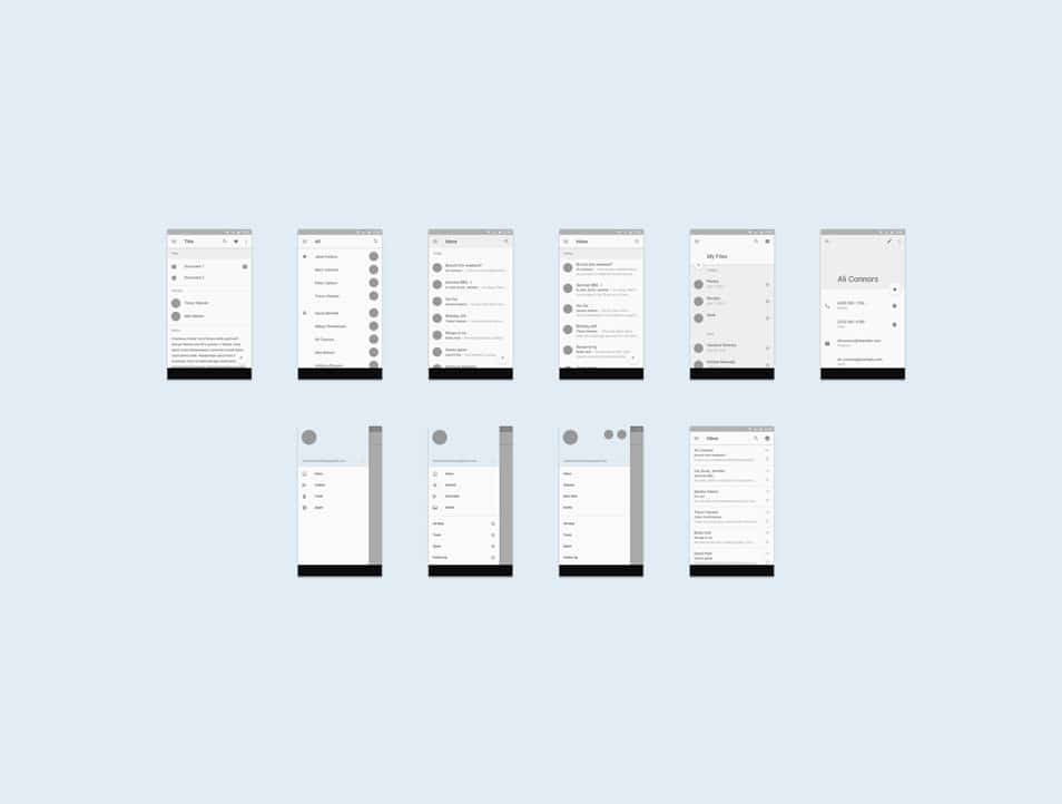 Android L Mobile UI Template (Sketch)