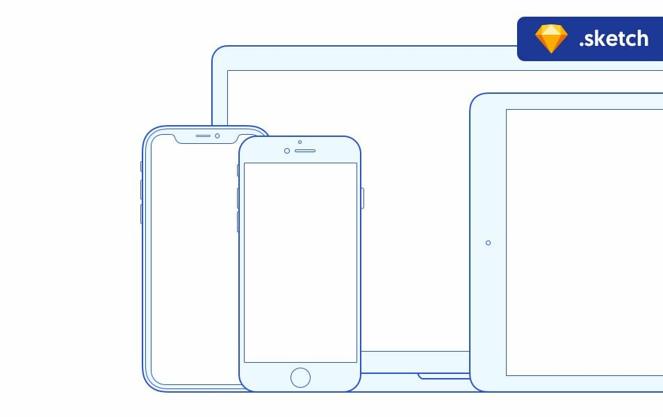 Apple Devices Outline Mockup