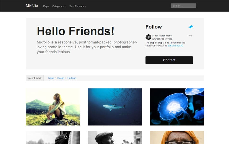 150 best free wordpress portfolio themes 2018 css author mixfolio free portfolio wordpress theme maxwellsz