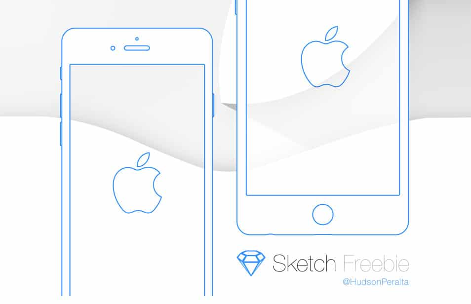 iPhone 6 & 6 Plus Wireframe .sketch