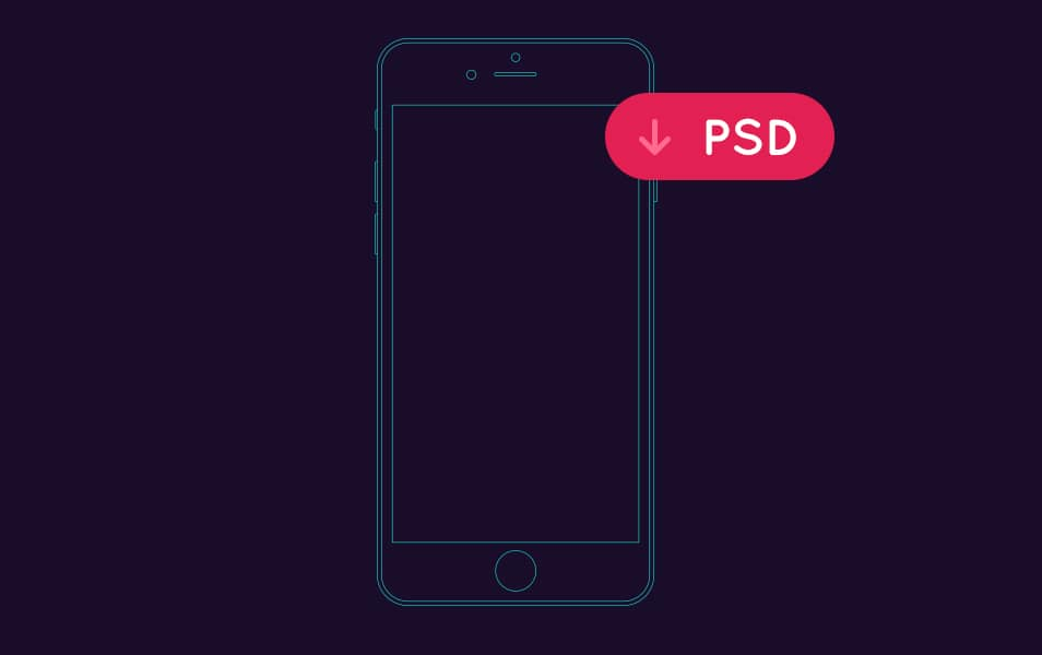 iPhone outline Mockup