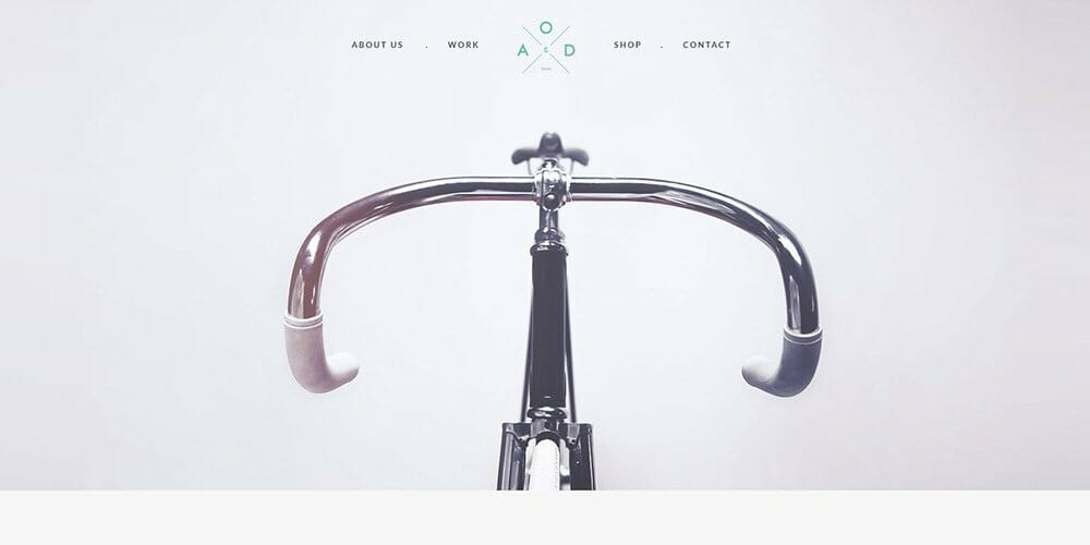 Bicycle Free One Page Template PSD