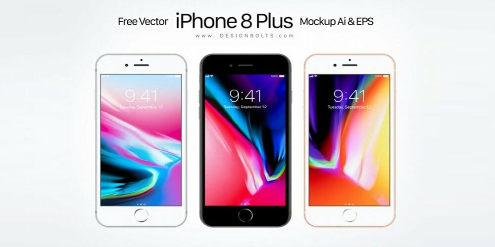 Free Vector Apple iPhone 8 Plus Mockup