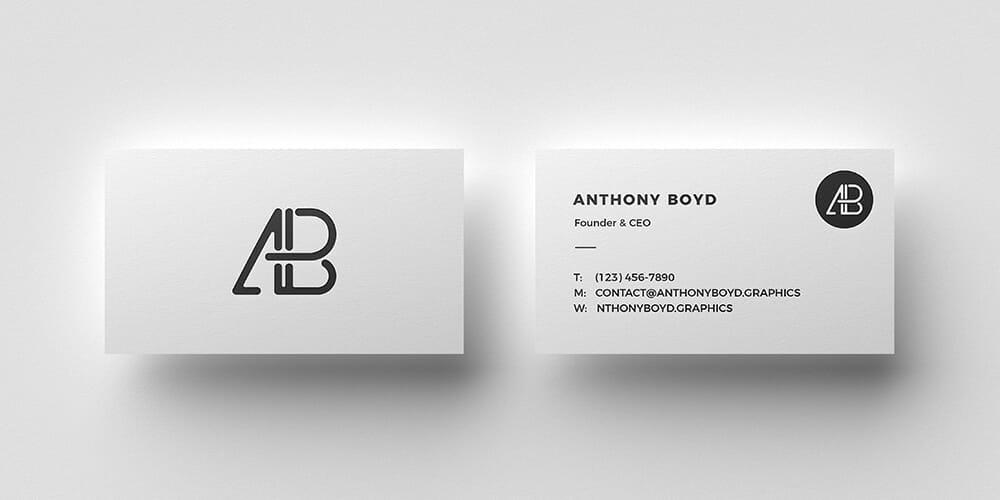 100 free business card mockup psd css author business card top view mockup psd reheart Gallery
