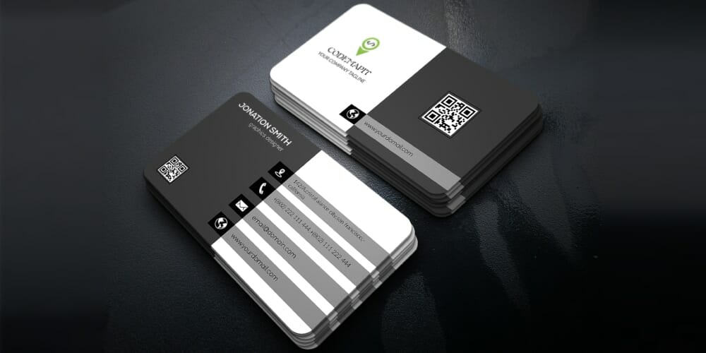 Corporate Business Card Mockups PSD