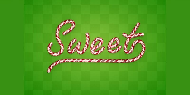 Create a Christmas Candy Text Effect in Illustrator
