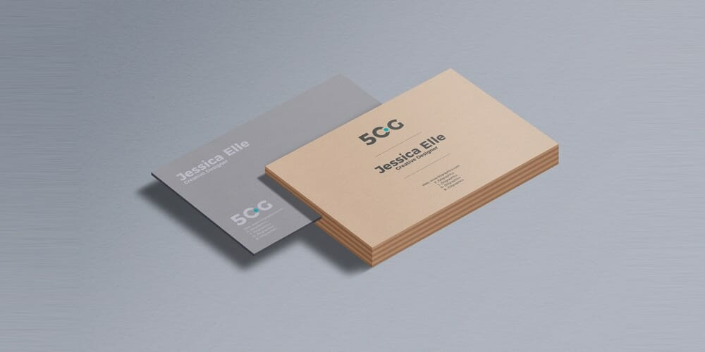 Free Business Card Branding Mockup PSD