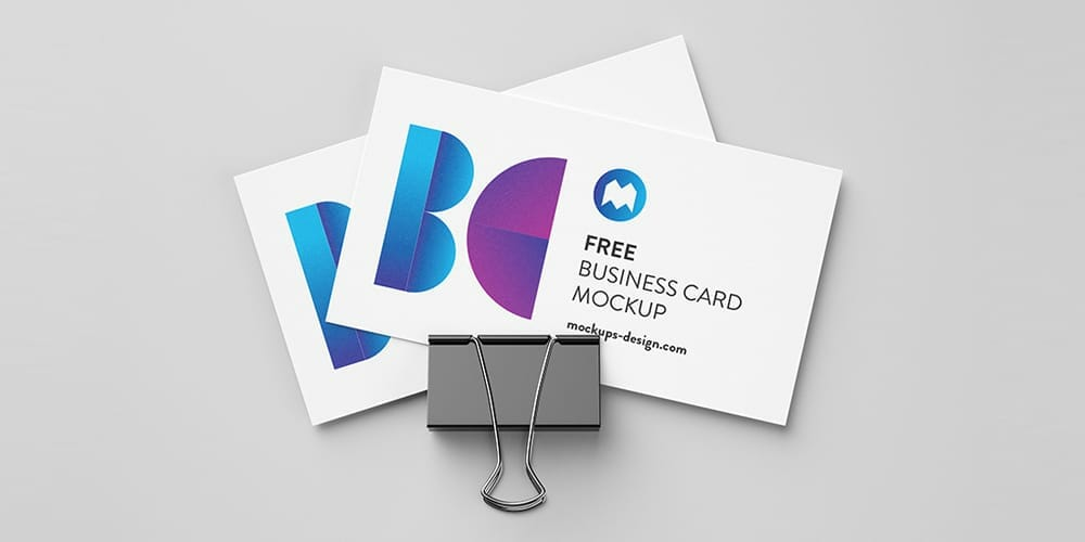 100 free business card mockup psd css author free business cards with foldback clip mockup psd colourmoves