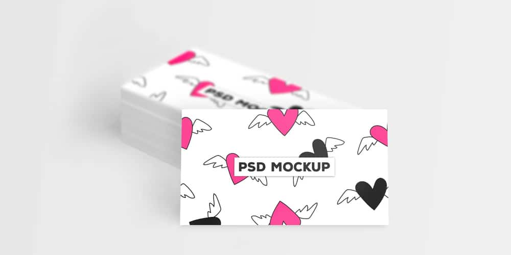 Free Front View Business Card Mockup PSD
