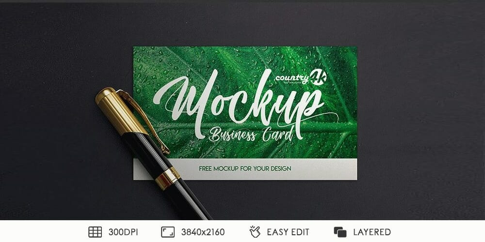 Free MockUps PSD for Business Card