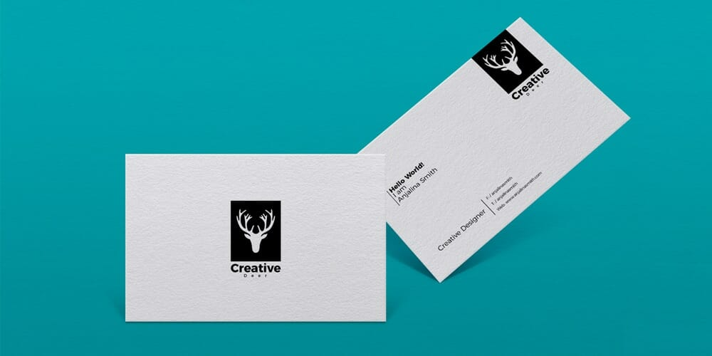 Free Textured Business Card Branding Mockup PSD