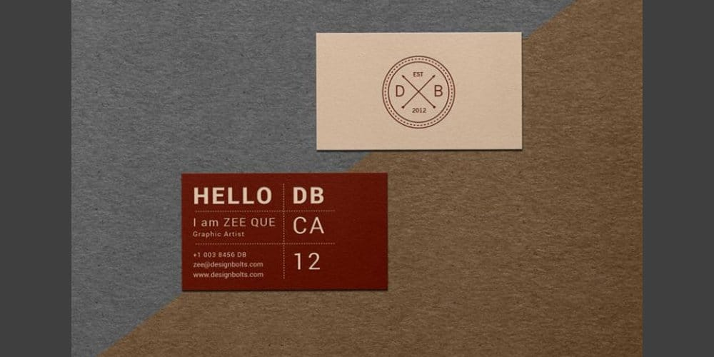 Free Textured Business Card Mockup PSD