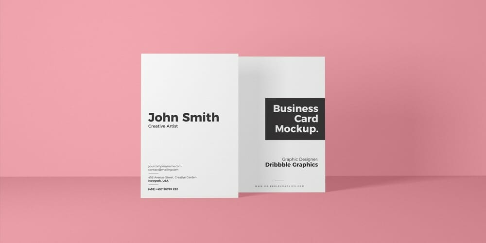 100 free business card mockup psd css author free vertical front view business card mockup psd reheart Image collections
