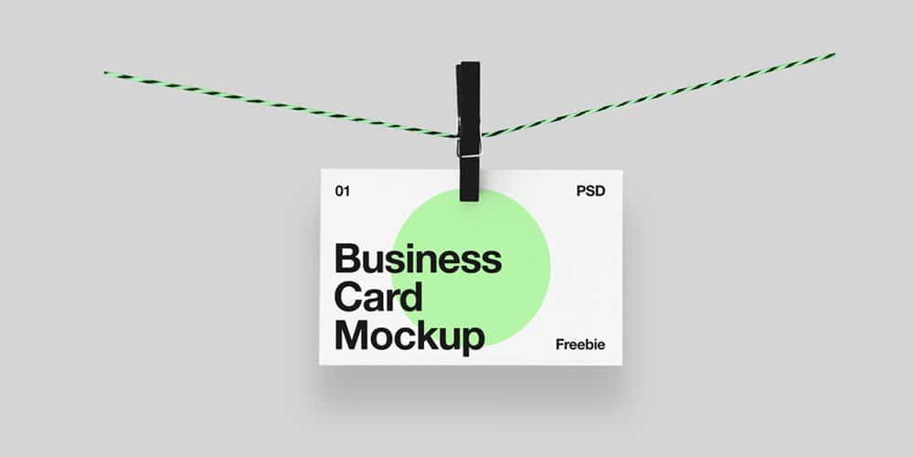 Hanging Business Card Mockup PSD
