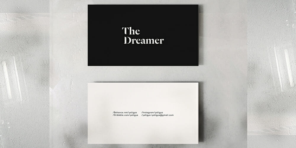 Luxury Business Cards Mockup PSD