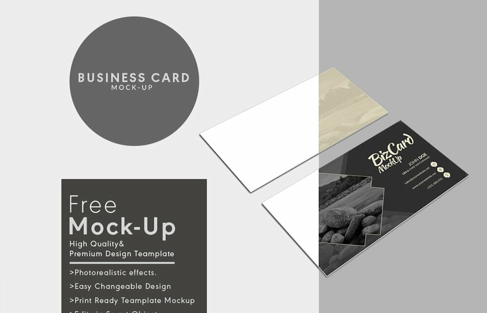 Multiple Business Card Mock Up PSD