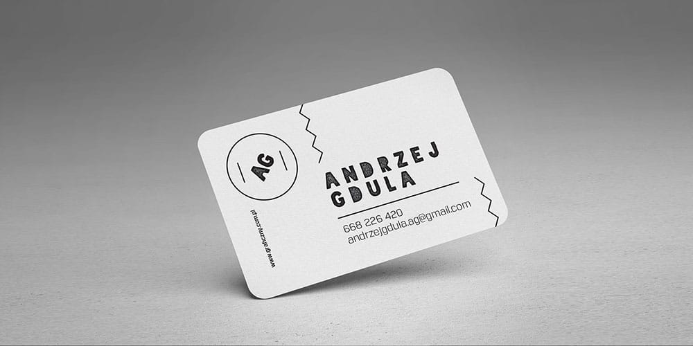 Rounded business cards mockup psd