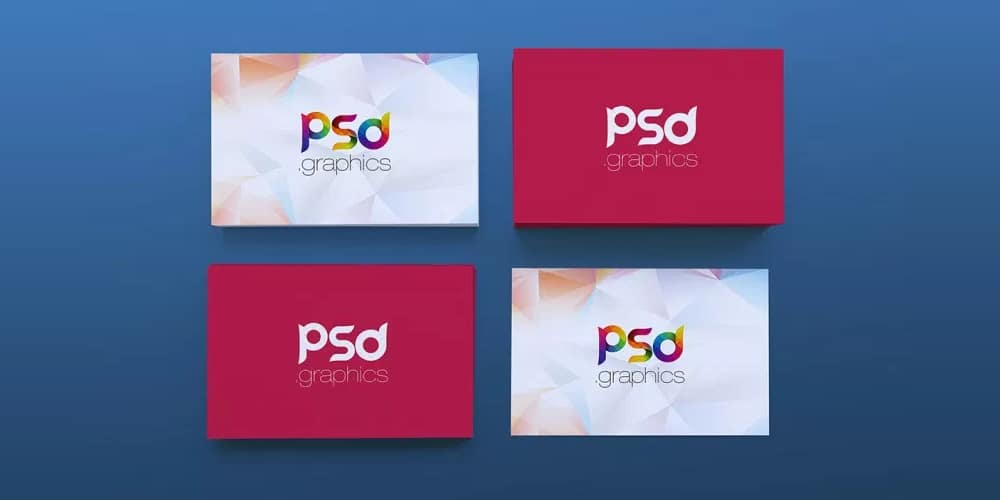 Stack of Business Card Mockup PSD