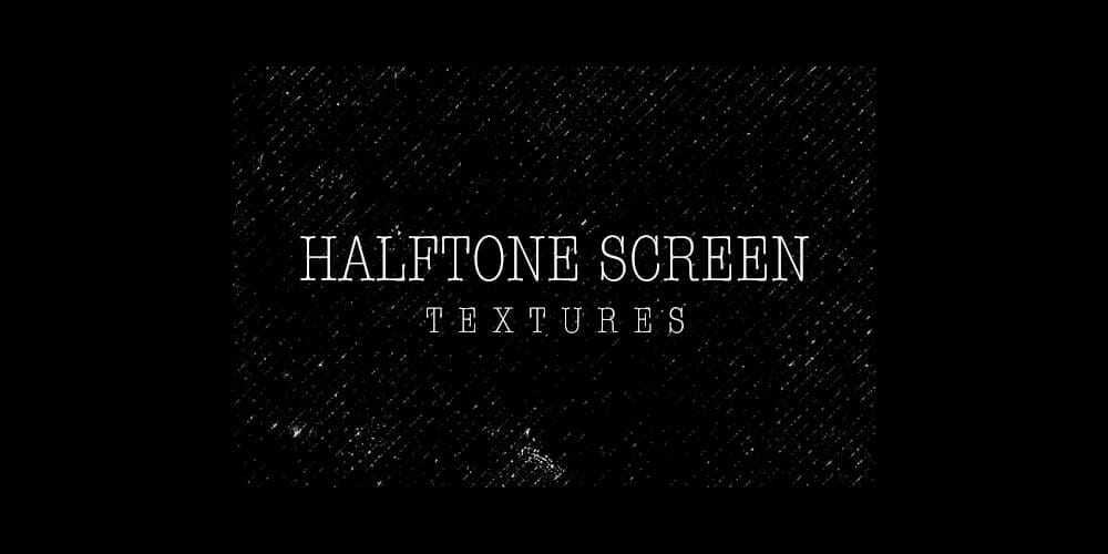 Black Halftone Screen Textures