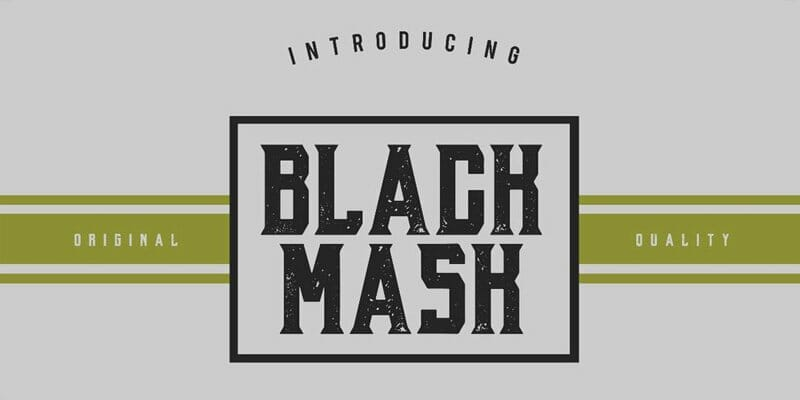 Black Mask Typeface
